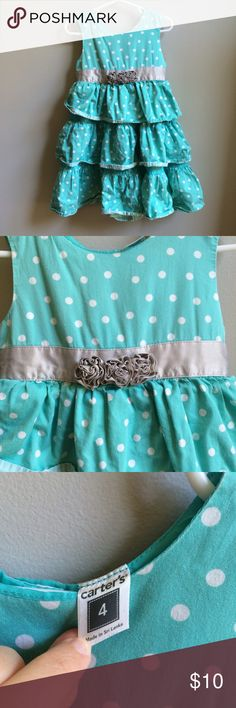 4T Carters Teal Layered Dress Good condition. Carter's Dresses