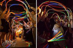 Brittany & Jim Wedding – West Franklin Baptist & The Factory in Franklin, TN Glow Stick Wedding, Wedding Sand, Diy Wedding, Dream Wedding, Wedding Ideas, Wedding Unique, Wedding Stuff, Wedding Send Off, Wedding Exits