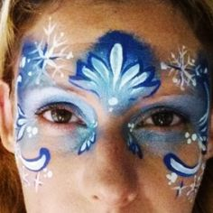 How to face paint a Frozen Ice Princess Design
