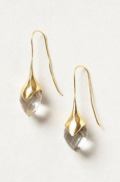 REVEL: Crystallized Water Drop Earrings
