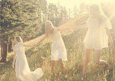girls in a sunny field