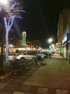Broadway looking towards thr historic Fargo theater.