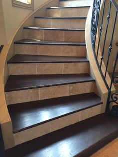 Best Wood Plank Porcelain Tile Installed On Stairs In Prescott 400 x 300
