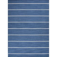 Handmade Flat Weave Stripe Pattern Casual Blue Rug (4' x 6') | Overstock™ Shopping - Great Deals on JRCPL 3x5 - 4x6 Rugs