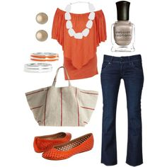 Cute! orange, created by htotheb.polyvore.com