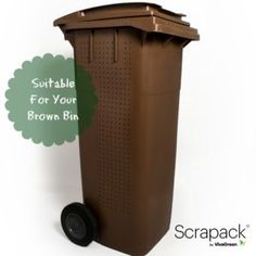 Use Scrapack for all your food waste - it's even suitable for your brown bin Compost Bags, Peeling, Composting, Food Waste, Recycling, Environment, Brown, Repurpose, Environmental Psychology