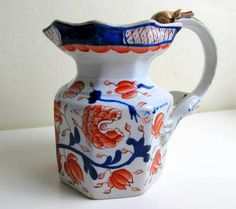 Staffordshire Ironstone China Dragon Handled Jug c1825 by BountyFromThePast on Etsy