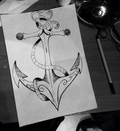 Art Anchor Black and white Ankkuri Tb
