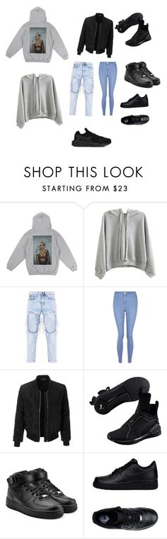 """I don't know what to title this so I guess this is the title"" by mickylafraser on Polyvore featuring WithChic, New Look, LE3NO, Puma and NIKE"