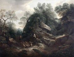 Hampton Rocks, Morning, by Thomas Barker (late 18th / early 19th century)