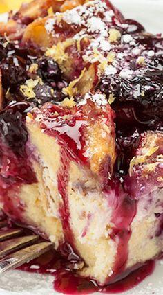 Blueberry Lemon French Toast Bake