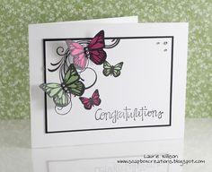Congratulations card - butterflies