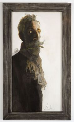 'Long Tall Selfie' by John Byrne, 2015 (oil and pastel on paper)