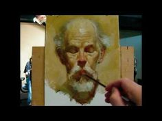 """""""The poet"""", alla prima portrait demo of Gregory, a 130 minutes painting by Zimou Tan - YouTube"""