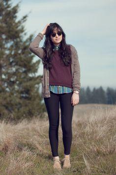 Collard Shirt, Sweater, Loose Cardigan
