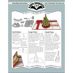 Karen Burniston Dies (Christmas Tree Pop-Up), Grey metal Pop Up Christmas Cards, Pop Up Cards, Xmas Cards, Pop Up Card Templates, Tarjetas Pop Up, Cricut Cuttlebug, Art Drawings For Kids, Up Book, Karen