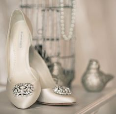 """Lamour"" shoes by Benjamin Adams via www.aubresbridal.com"