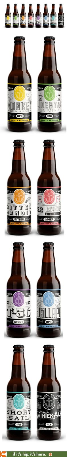 All the fabulous label designs for Fjäderholmarnas Beers.