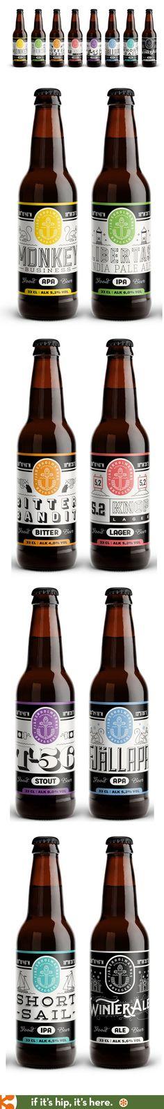 All the fabulous label designs for Fjäderholmarnas Beers.