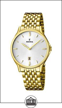 Festina F16746/1 - Reloj de pulsera hombre, acero inoxidable chapado, color dorado de  ✿ Relojes para hombre - (Gama media/alta) ✿