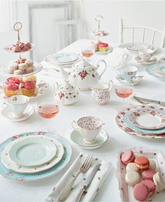 inspiration for what i want my tea set to look like     Royal Albert Dinnerware, Old Country Roses White Vintage Collection - Fine China - Macy's