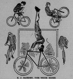 The history of cycling more than 100 years ago and how things have not changed all that much in many respects. Bicycles, cylists, and social history. Bike Events, Stunt Bike, Gear Art, Fixed Gear Bike, Custom Bikes, Stunts, Memorial Day, Bicycle, Symbols