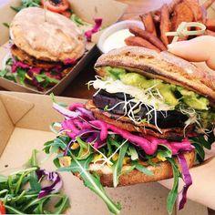 earthyoself:  veggie burger lovingggggg ... - Bring out the warrior in you.