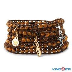 Tiger Eye Urban Karma Wrap Bracelet