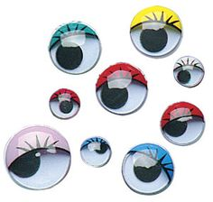 Wiggle Eyes - Painted w/Lashes Assorted $4.99