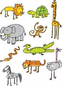 stick figure zoo animals - Google Search