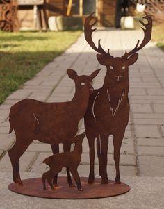 Gartenstecker beetstecker wildtiere rehbock lothar for Edelrost skulpturen
