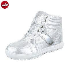 Damen Schuhe Freizeitschuhe designer Turnschuhe C1-6183 Sneaker Grau Blau 38