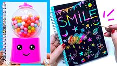10 DIY Rainbow Stress Reliever Notebooks for Back to Schoolback to school to school pranks to school supplies diy school supplies school supplies hacks school supplies Easy Paper Crafts, Glue Crafts, Easy Diy Crafts, Crafts To Make, Letters For Kids, Diy Letters, Diy Projects With Books, Creative Bookmarks, Diy Back To School