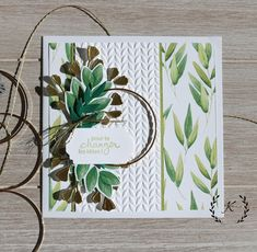 """Stampin'Up! - Feuillage florissant - Charmante amie - Perforatrice f""""orme au choix étiquettes fantaisistes"""" Scrapbooking Diy, Scrapbook Cards, Daisy Image, Forever Green, Flowers In Jars, Leaf Cards, Art Textile, Get Well Cards, Mandala"""