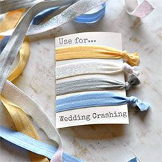 The easiest and cheapest hair tie DIY. I'm going to make a bunch of these and then give them as gifts.