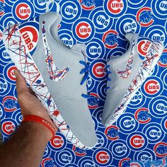 Chicago Cubs Shoes -Nike Roshe One Custom 'North Sider Edition Chicago Cubs Shoes, Chicago Cubs Baseball, Chicago White Sox, Boston Red Sox, Baseball Shoes, Baseball Stuff, Baseball Jewelry, Baseball Gear, Baseball League