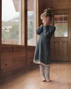 Love this little girls outfit and hair . . . so cozy and cute