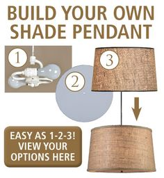 Also, see how to video on Make a Drum Shade Pendant Light! From www.ShadesofLight.com