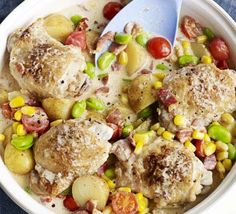 Summer Chicken One-pot. This recipe (with a little tweaking) would make a good foil meal.