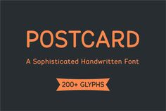 Postcard Font by Igor Petrovic  on @creativemarket