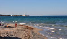 Beach at San Cataldo in Puglia