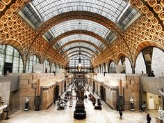 Built in an old train station right by the Seine, the Musée d'Orsay is a huge museum that is just as gorgeous but less touristy than the Louvre. It is also home to the world's largest Impressionist collection. The Ultimate Parisian Guide To Paris
