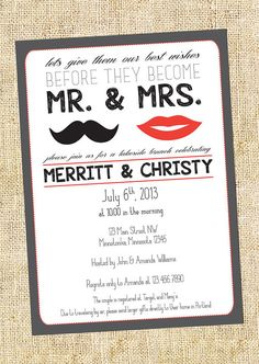 couples party invitation
