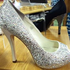 bling wedding shoes for sure!