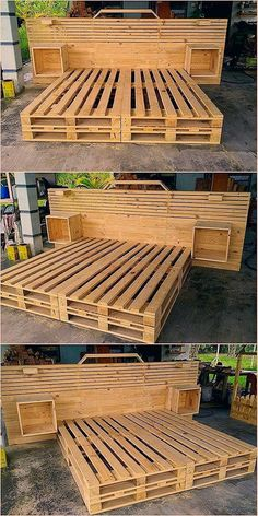 Impressive 16 DIY Wooden Pallet Ideas and ProjectsThanks pullawire for this post.Impressive 16 DIY Wooden Pallet Ideas and Projects Reusing the wood pallet is not that much hard task as you do think out to be. Reusing the wood pallet into cr# DIY # Wooden Pallet Projects, Wooden Pallets, Wooden Diy, Pallet Wood, Pallet Seating, Pallet Tables, 1001 Pallets, Wood Wood, Diy Wood