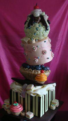 Topsy Turvy cake made by Cakes by Tatiana