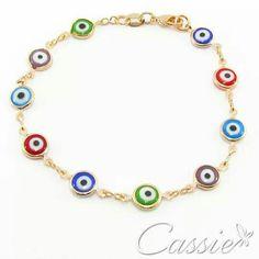 ❤ As pulseiras de Olho Grego são um sucesso. ❤ Acredita-se que ao usar acessórios de olho grego, as energias negativas não chegam em quem usa.❤ ⏩ Pulseira Olho Grego Colorato folheada a ouro com garantia. Apenas R$ 35,90 ⏪ #Cassie #semijoias #acessórios #pulseirismo #moda #fashion #estilo #tendências #trends #instamoda #inspiração #dourado #sãopaulo #Pulseira #olhogrego #inlove