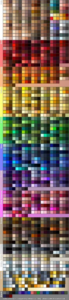 Color References 5 by UltimeciaFFB on DeviantArt