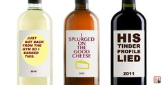 If wine labels were actually honest about why you're drinking