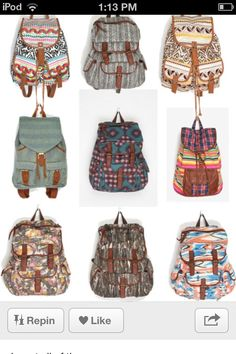 Backpacks:)
